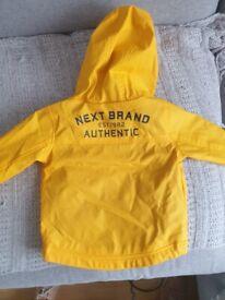 Next baby raincoat jacket 3-6 months