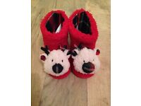 Baby reindeer slippers new with tags 6-12 months
