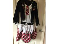 Halloween zombie school girl outfit