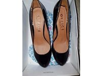 NEW Office Black Pewter Leather Shoes Size 39