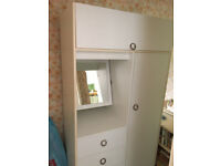 single wardrobe half chest of drawers dressing table