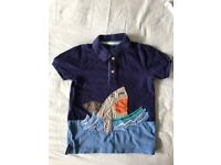 Lovely Quality Joules Polo Shirt Aged 5-6 Years (five six, designer like Boden)