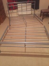 Aluminium double bed frame