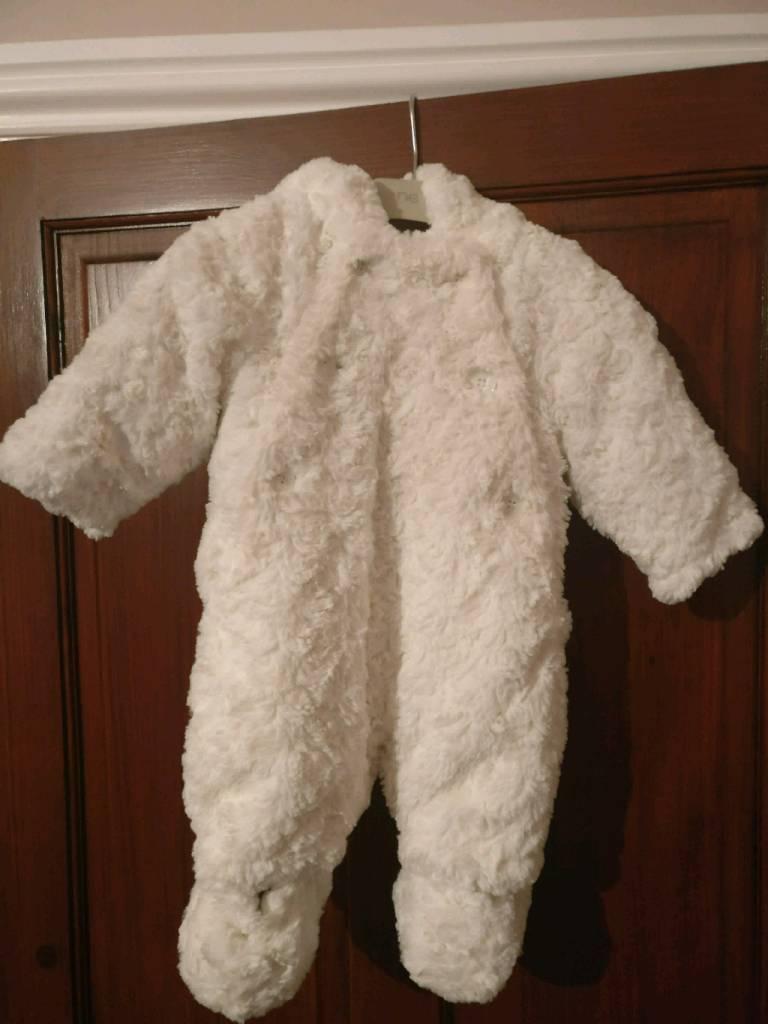Baby snowsuit 0-3 months (John Lewis)