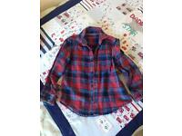 Boys next checked shirt size 6 years
