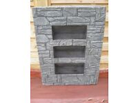 Brick Effect Wall Planter - Grey Colour Brand New and still in box - Measures 88cm x 68cm x 20cm