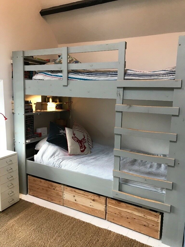 Grey Painted Wooden Bunk Beds In Monmouthshire Gumtree