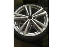 Genuine Audi 18inch alloy wheels with tyres