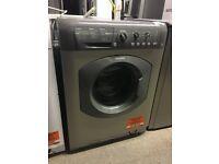 HOTPOINT HE8L493G Washing Machine - Graphite