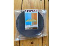 Stopgap draught stopper for wooden floorboards
