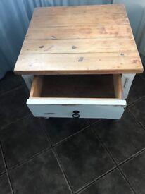 Medium white side table