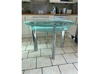 Glass dining table £30