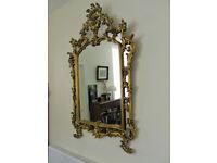 Large Vintage Ornate Mirror