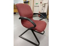 office seating 4 in number rigid frame general office seating
