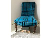 Designers Guild reupholstered Chair, Professionally reupholstered and restored - new padding/webbing