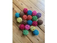 Coloured rattan balls (ideal for fairy/outdoor lights)