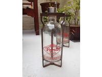 VINTAGE GLASS RIPPINGILLES FYRSIDE GLASS HEATER BOTTLE