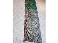 Green silky scarf/ decorative fabric