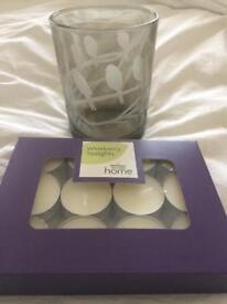 Brand new 'birds' tea light holder gift set