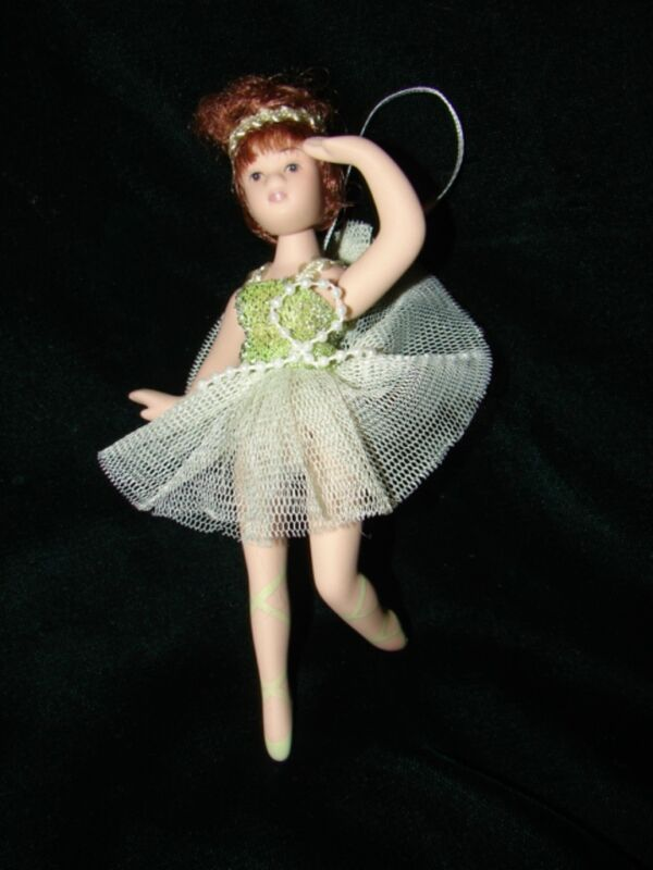 Porcelain Ballerina Doll Christmas Ornament Gift six inches tall
