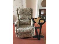 Electric reclining mobility chair