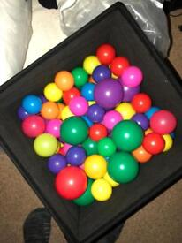 Coloured balls and soft play mats