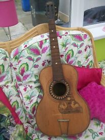 antique parlour guitar