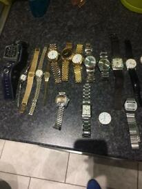 Job lot of watches men's and women's