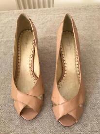 Patent open toe heels