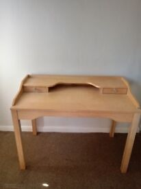 Contempory style beech desk