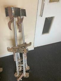 2 sets of plastering stilts . £40