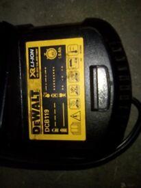 Dewalt xr_li-ion battery. Charger with car jack £35