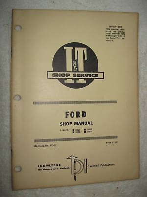 It Ford 8000860090009600 Tractor Shop Manual