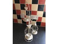 Vintage birdcage tea light holder