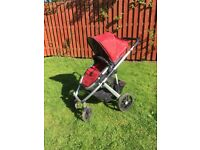 2012 Uppababy Vista complete with carrycot, buggy, rain covers, cozy toes and parent organiser