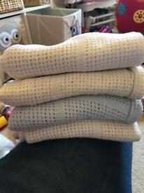 Baby cellular blankets Mothercare