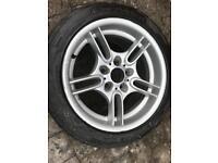 BMW ALLOY WHEEL 17 inch 530i 540 sport Nearly new tyre. + unused 225 40 18 Michelin tyre