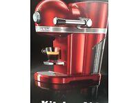 Nespresso kitchen aid machines in black