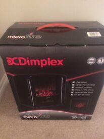 Dimplex Micro-Fire Black Freestanding Electric Stove - Brand New Only £45