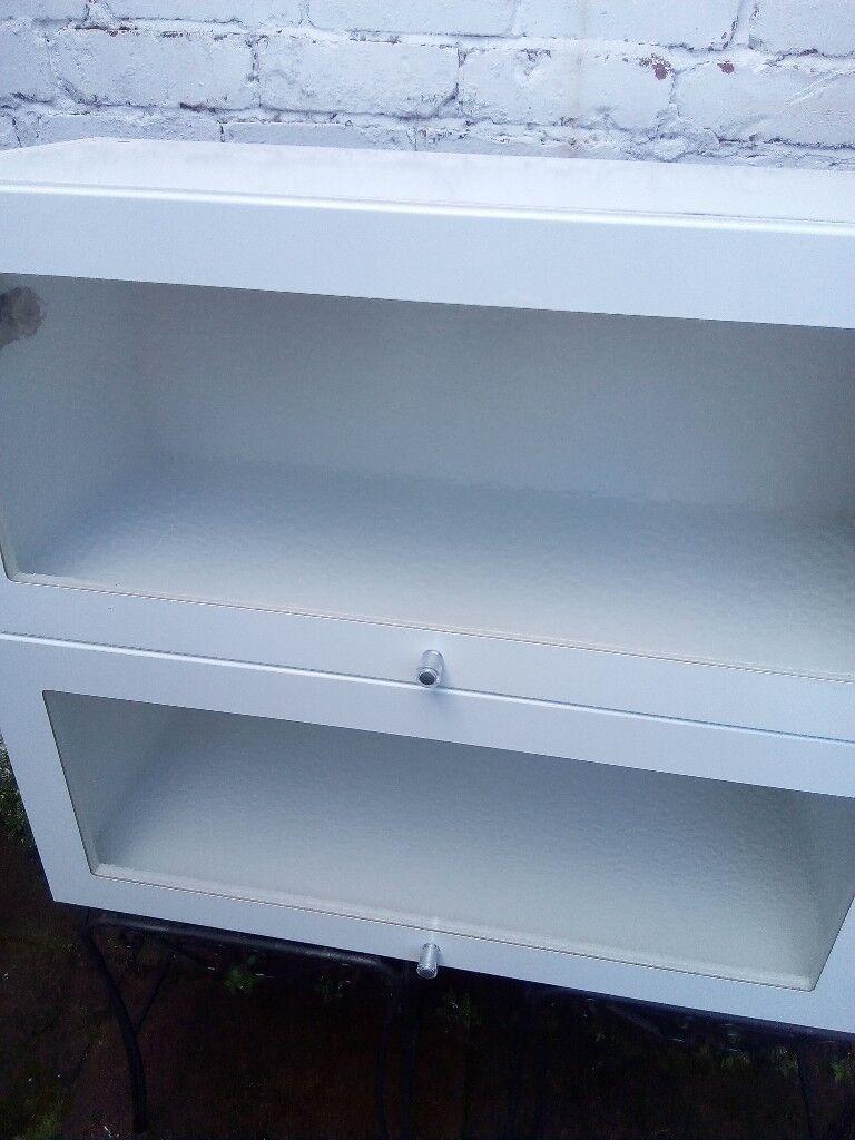 IKEA glazed kitchen cabinets x 2
