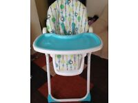 BabiesRus Unisex adjustable foldable High/low Chair can deliver local