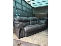 Leather sofas 2 seater and 3 seater (chair couch)
