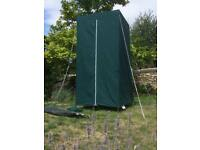 Portable toilet and toilet/amenities tent