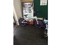 "Big Daddy Rooseter White/Purple BMX 11.5"" Inch"
