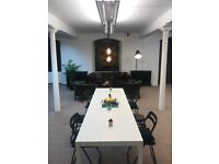 DESK SPACE IN DESIGN AGENCY PERFECTLY SUITED FOR CREATIVE PROFESSIONAL, FREELANCER, SMALL BUSINESS