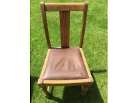 Vintage solid chair