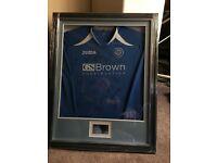 St Johnston Scottish cup winners players signed football shirt framed Rare item!