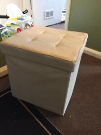 Storage boxes ottoman seating x2