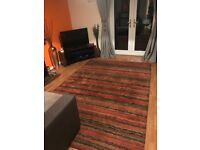 Excellent condition large striped rug