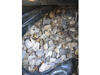 Blue slate chippings - 40 bags